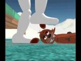 Mangle and Foxy Footsies (MMD FNAF)