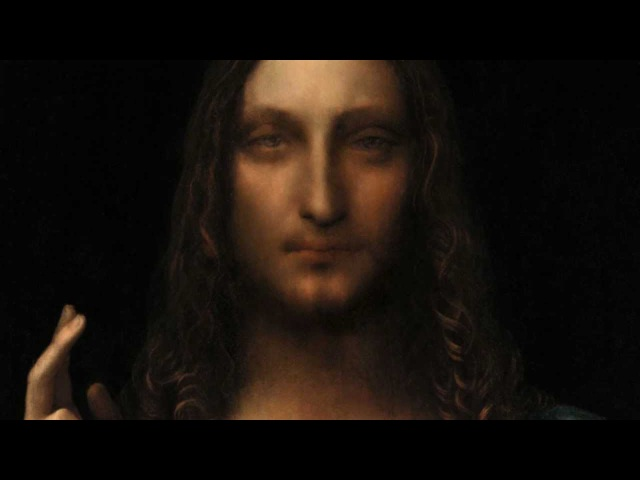Salvator Mundi a newly rediscovered painting by Leonardo Da Vinci.