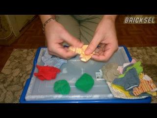 Распаковка пакета с одеждой из LEGO 9215 Дочки-матери, куклы DOLLS
