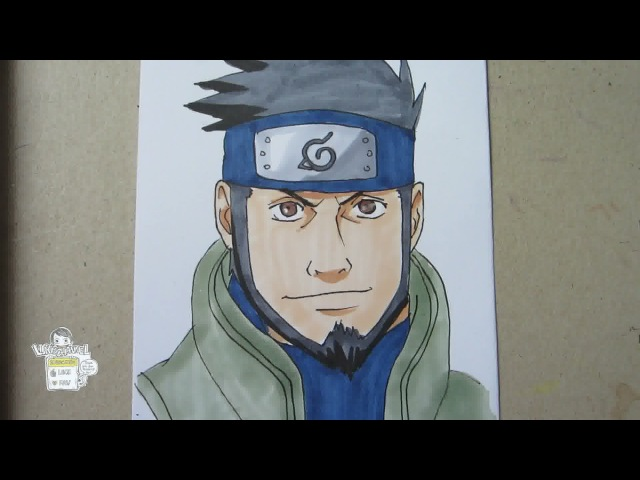 How to draw Sarutobi Asuma