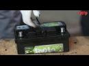 Распиленный пополам аккумулятор Topla легко заводит двигатель