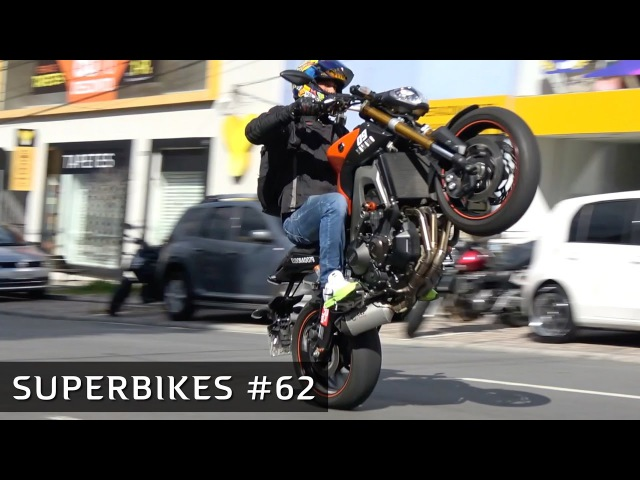 😈 SUPERBIKES 62 - MT-09 no GRAU! XJ6 cortando giro! S1000RR, CBR 1000RR e outras motos esportivas!