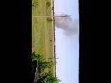 УХ... Сбитый самолет АН 26 ВВСУ догорает в лесополосе... г. Молодгвардейск