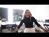 Мелисса Беноист за кулисами фотосессии для журнала «Marie Claire»