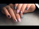 Два оттенка серого, нежно розовый и серебро