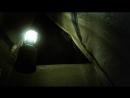 Ночью в палатке под защитой стены