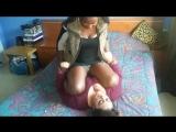 Mistress Orithea humiliates fat maid by long schoolgirlpin