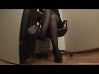 Goddess Victoria Foot worship sexy feet neylon office #mistress #femdom #foot #fetish