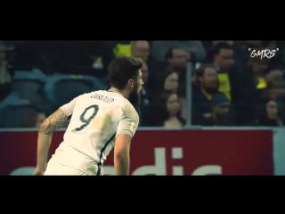 Эффектный гол Оливье Жиру в ворота Швеции  