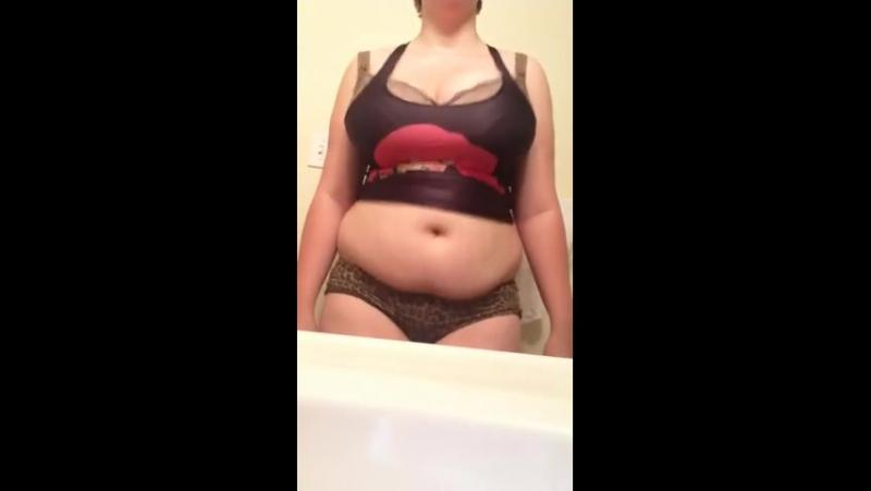Big tits big belly sexyness