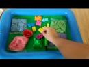 Набор кинетический песок KidSand Danko Toys 1 6 кг формочки