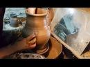 A pitcher of 7 8 liters Большой кувшин из шамотной массы опытный образец