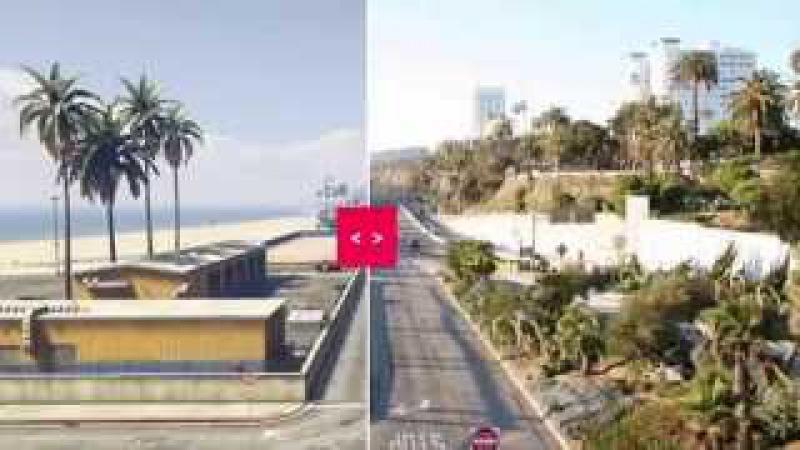 GTA 5 - ГТА5.РФ. GTA V в реальной жизни (in Real Life). Los Santos vs Los Angeles