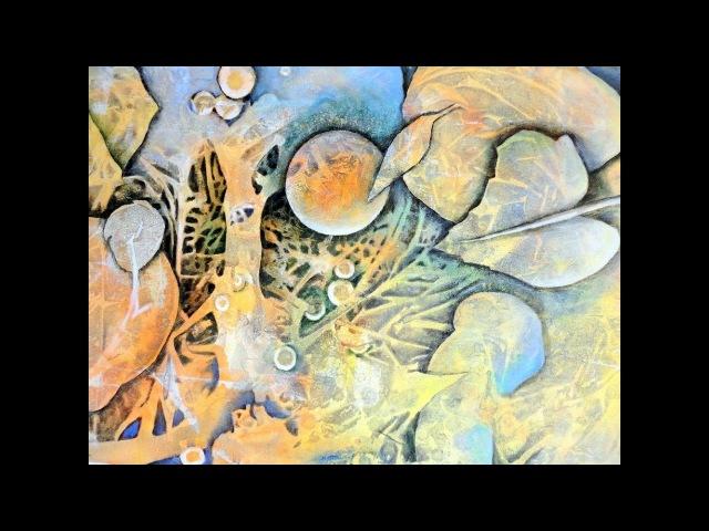 Acryltechniken kombinieren Combining acrylic techniques Nr 6