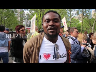 USA: 'Immortal Regiment' commemorated in New York City ahead of V-Day