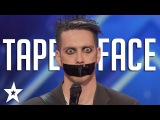 Tape Face Auditions &amp Performances America's Got Talent 2016 Finalist