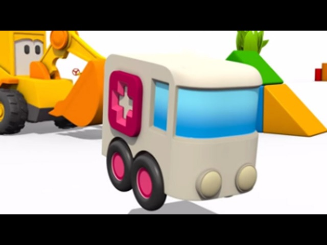 Max der Bagger - Der Krankenwagen. 3D Animation für Kinder