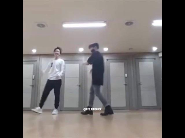 BTS J hope and kookie silver spoon dance