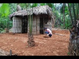 Primitive Technology Make bamboo tents and create a yard - full video (Primitive-Hut)