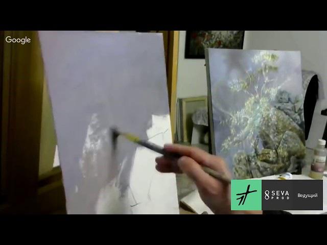 Александр Маранов Картина в технике Сияние 'Звенящий кедр'