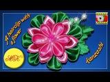 A hairclip with a kanzashi flower, DIY, master class