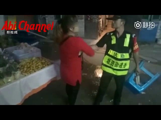 Woman grabs inspectors penis and wont let go