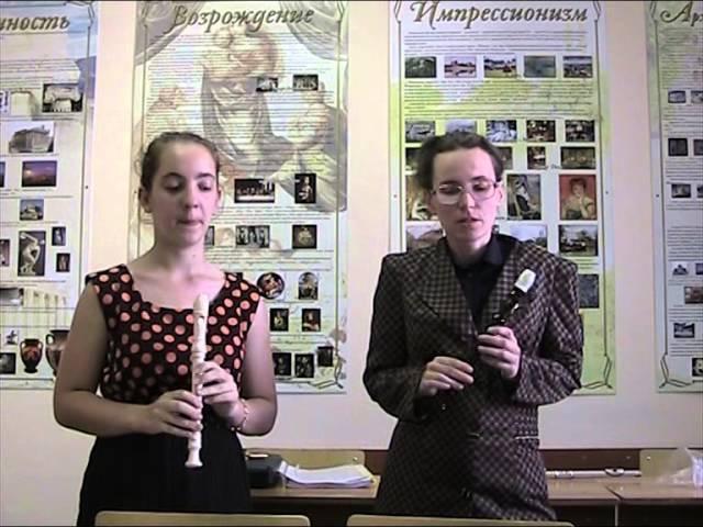 Две блок-флейты, необычные приемы игры