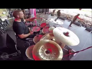 CRYPTOPSY@Slit Your Guts-Flo Mounier-Live in Brutal Assault 2017 (Drum Cam)