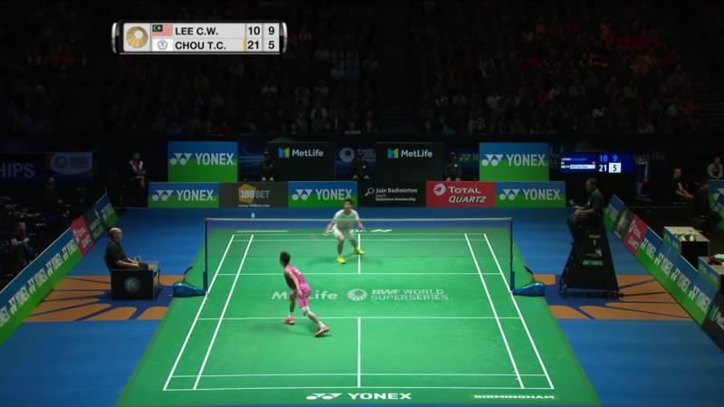 England 2017 - SF MS - Lee Chong Wei vs Chou Tien Chen - бадминтон