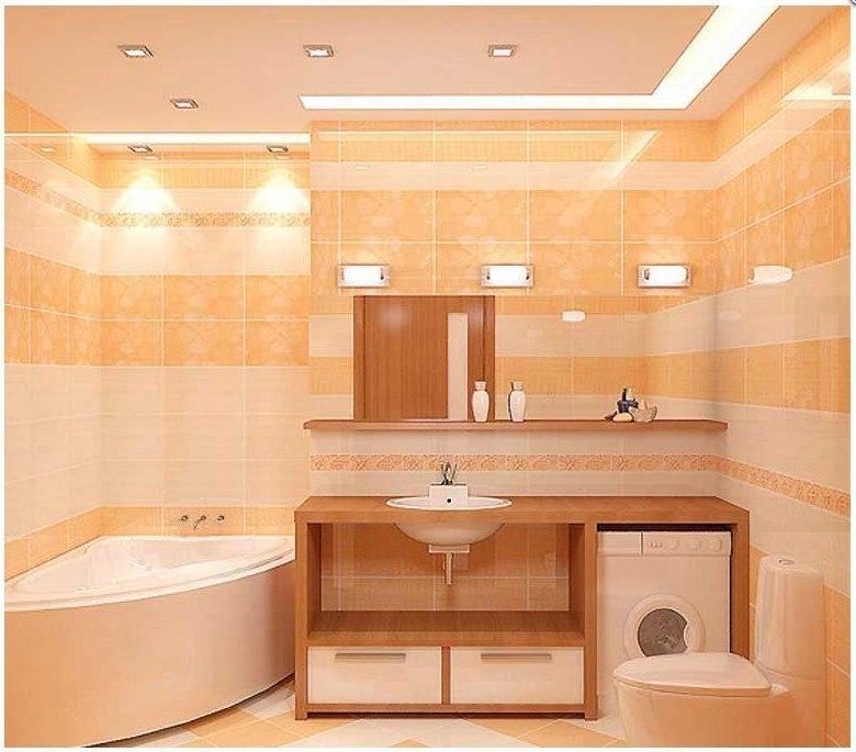 Г-образная ванная комната