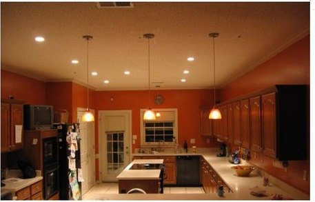 Комбинированное освещение кухни