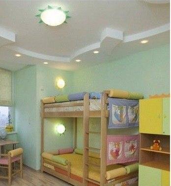 Схема размещения светильников в детской комнате