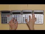 Тема из Super Mario Bros. на четырех калькуляторах