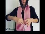 Как правильно носить шарфик
