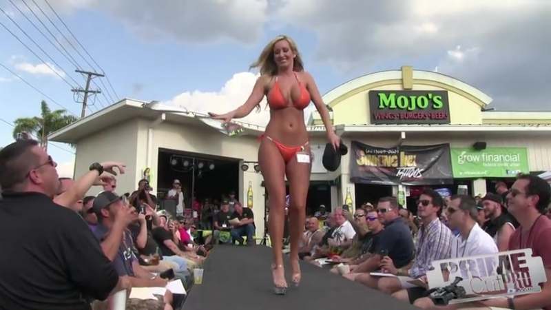 36-24-36 Blonde Competes in Florida Contest - 2015 Version