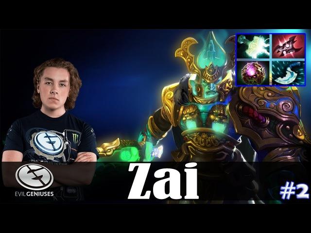 Zai - Wraith King Safelane | Dota 2 Pro MMR Gameplay 2
