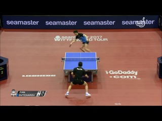 Dimitrij Ovtcharov vs Fan Zhendong (German Open 2017) MS 1/2