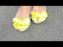 Как я переделала старые балетки! СМОТРИТЕ видео ДО И ПОСЛЕ Декупаж обуви!
