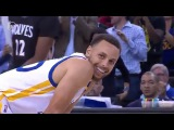Steph Curry Amazing No Look Pass To Andre Iguodala  Timberwolves vs Warriors  NBA Hangtime