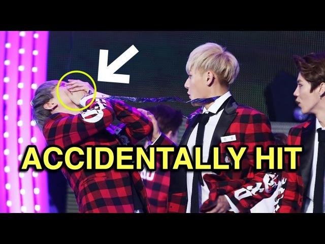 Kpop Idols Accidentally Hitting Members Fans