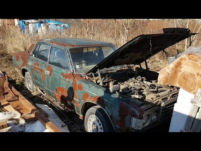 Заброшенный авто, в лесу, дачи, за городом, Toyota Crown, 70-х годов, ищем хозяина