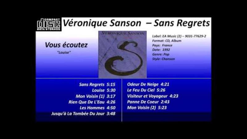 Véronique Sanson – Sans Regrets , album complet