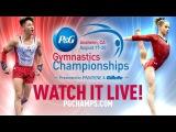 2017 P&ampG Gymnastics Championships - Jr. Women's Podium Training