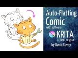 [RUS_Dub] Раскрашивание комикса с помощью Gmic plugin в Крите от Давида Ревуа