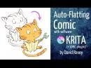 RUS Dub Раскрашивание комикса с помощью Gmic plugin в Крите от Давида Ревуа