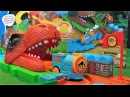 Железная дорога и поезд мир динозавров игрушки для мальчиков видео для детей