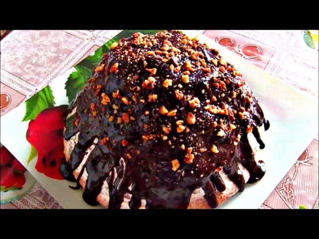 Торт Панчо с вишней и орехами / Простой и вкусный торт со сметанным кремом