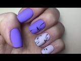 Весенний маникюр 2017. Веточки на ногтях. Трендовый маникюр. Нежный дизайн ногтей