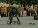 100-я гв. ОВДБр 28 июня 1997 года. г.Абакан. День образования части. Показательное выступление разведроты на плацу.