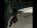 BMX flip to rail ride